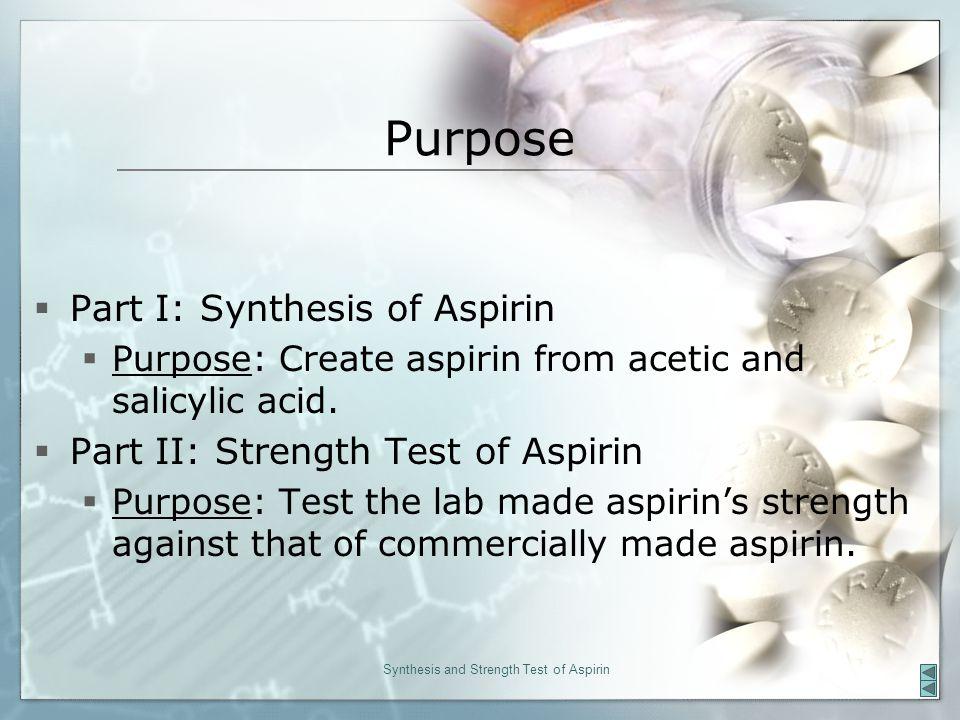 aspirin synthesis lab