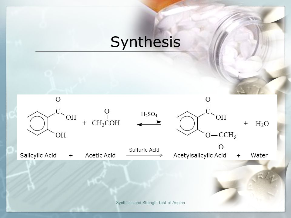 organic synthesis of aspirin chemistry formal lab essay Lab partner: sean wilson      organic layer also contributes to the fact that it is located below the aqueous layer.