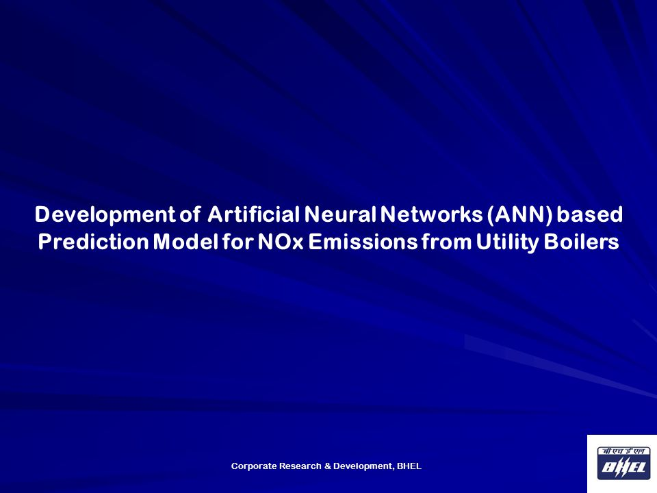 Development of Artificial Neural Networks (ANN) based Prediction Model for NOx Emissions from Utility Boilers
