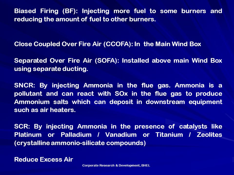 Close Coupled Over Fire Air (CCOFA): In the Main Wind Box