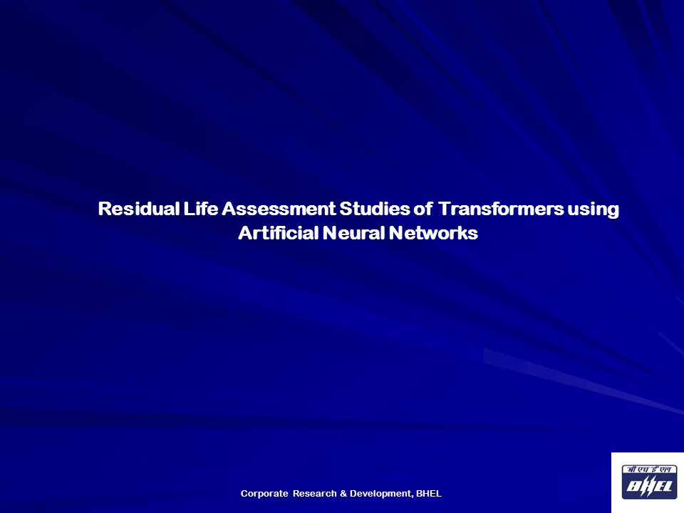 Residual Life Assessment Studies of Transformers using