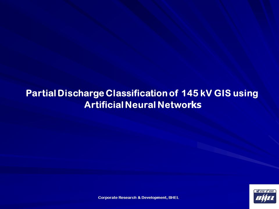 Partial Discharge Classification of 145 kV GIS using