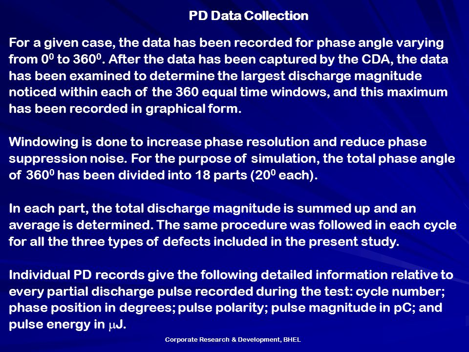 PD Data Collection