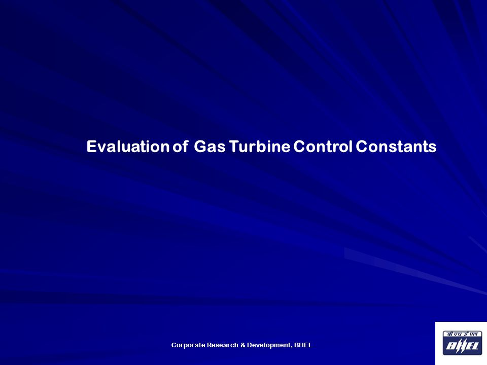 Evaluation of Gas Turbine Control Constants