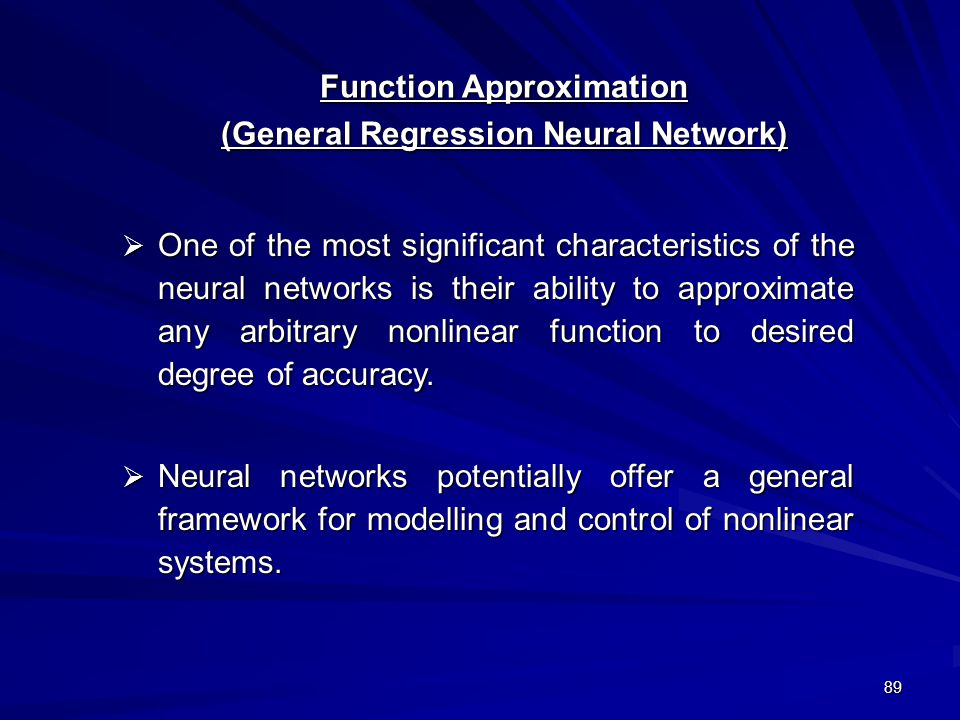 Function Approximation (General Regression Neural Network)