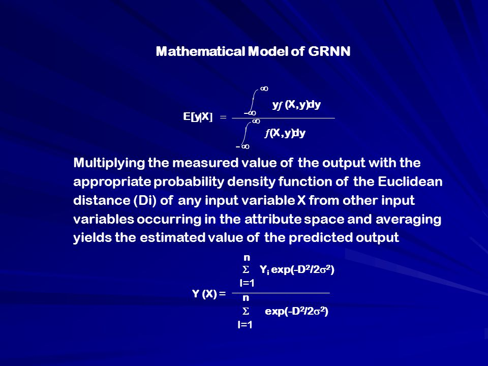 Mathematical Model of GRNN