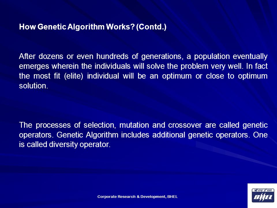 How Genetic Algorithm Works (Contd.)