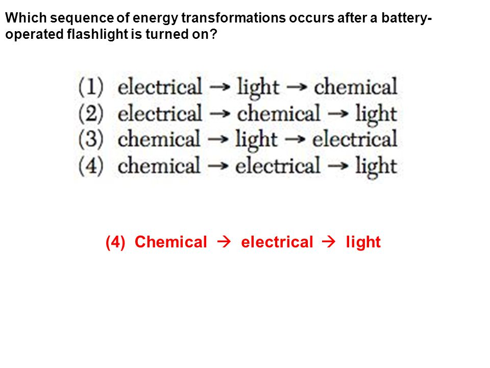 (4) Chemical  electrical  light