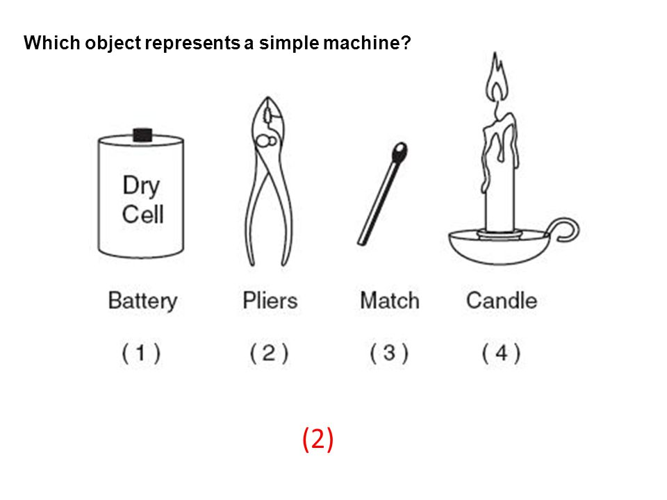 Which object represents a simple machine