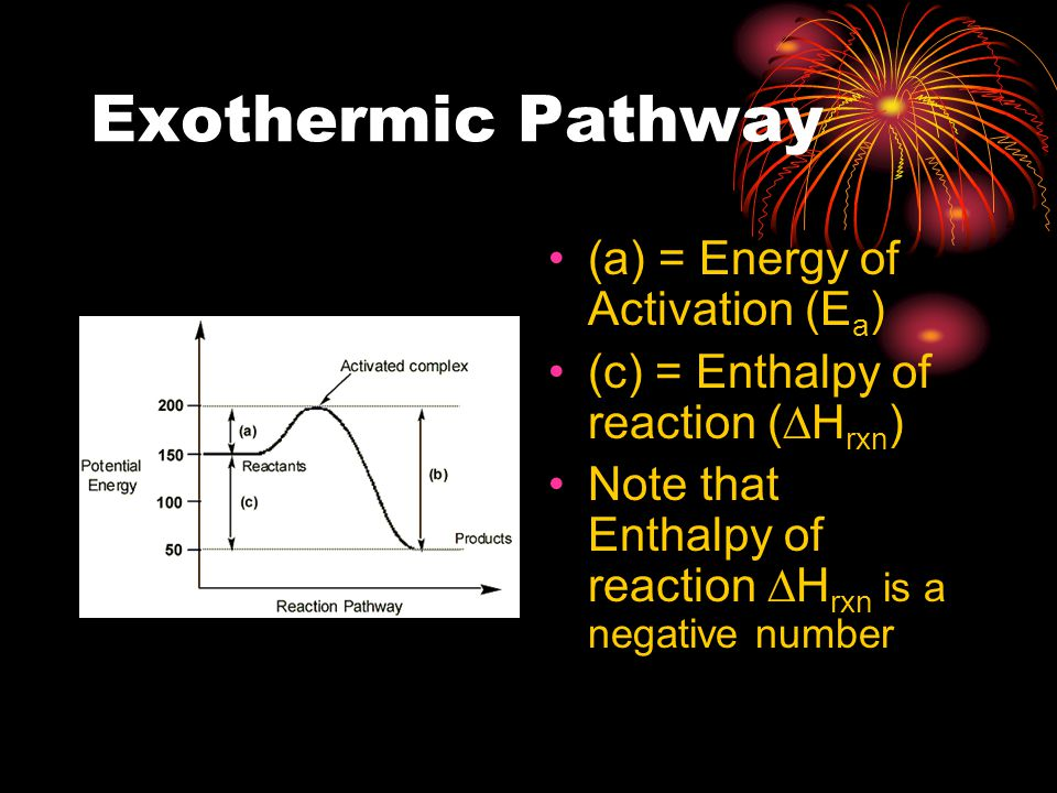 Exothermic Pathway (a) = Energy of Activation (Ea)