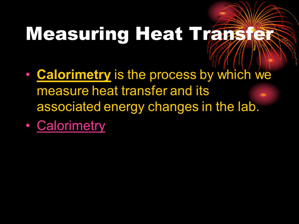 Measuring Heat Transfer