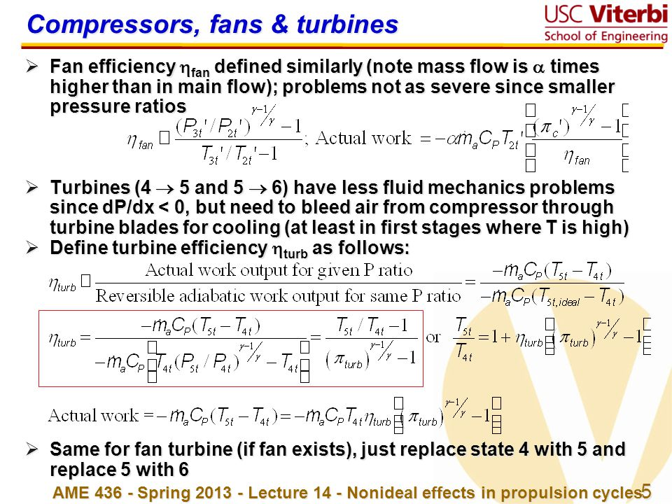 Compressors, fans & turbines