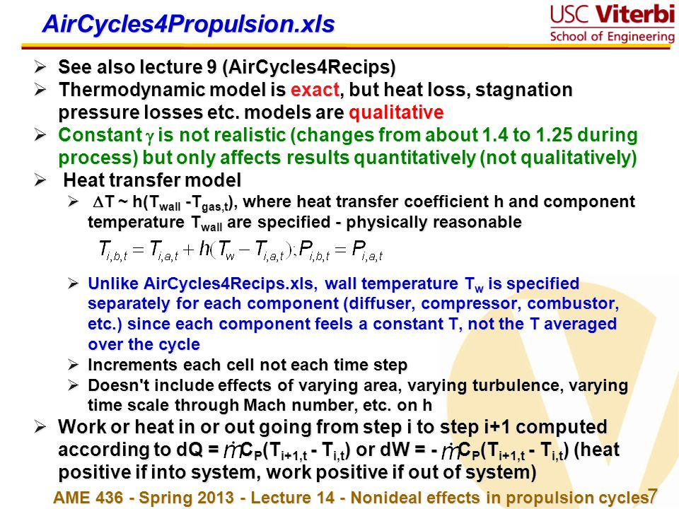 AirCycles4Propulsion.xls See also lecture 9 (AirCycles4Recips)