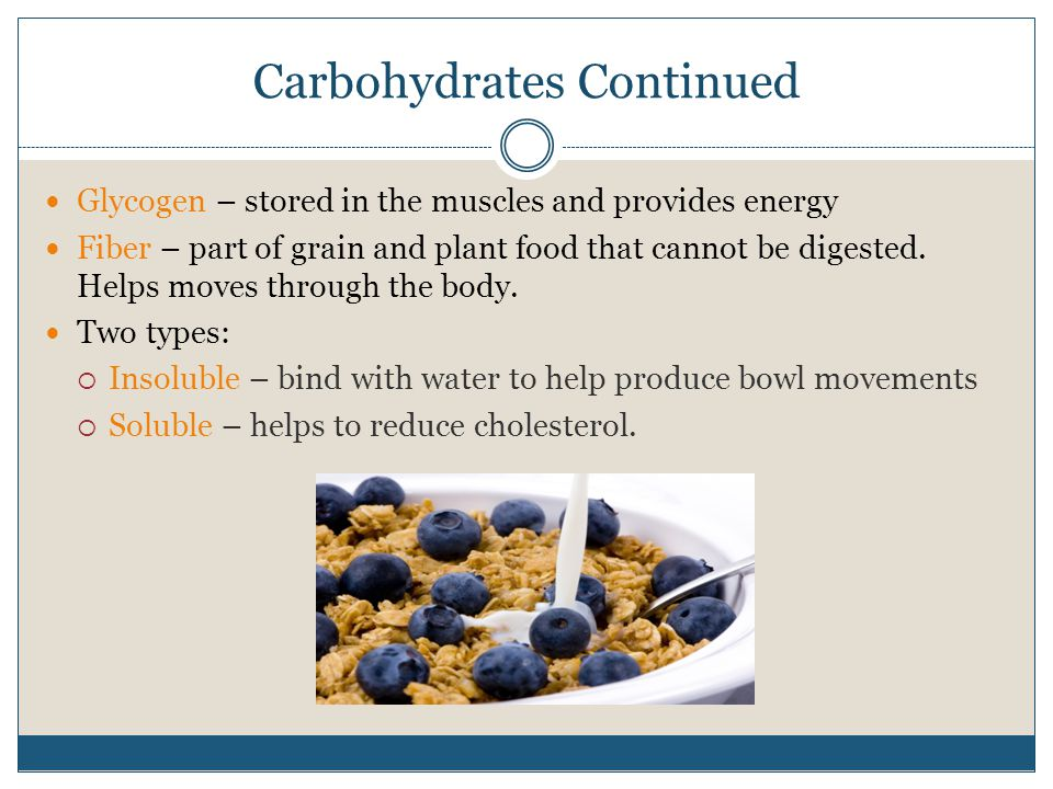 Carbohydrates Continued
