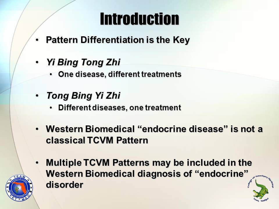 Introduction Pattern Differentiation is the Key Yi Bing Tong Zhi