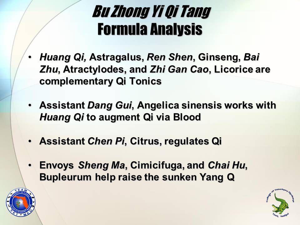 Bu Zhong Yi Qi Tang Formula Analysis