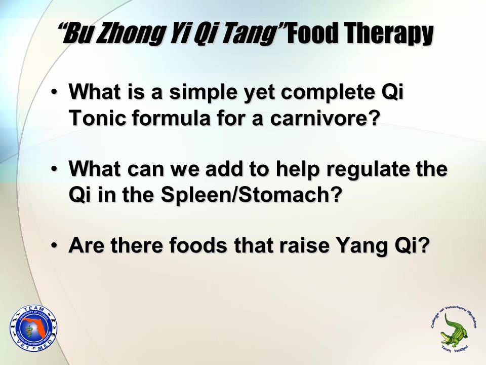 Bu Zhong Yi Qi Tang Food Therapy