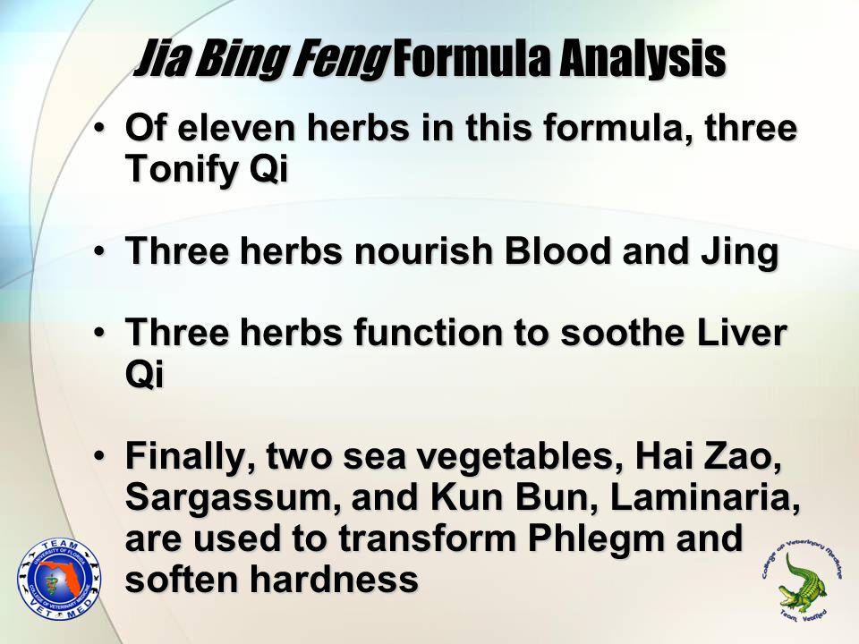 Jia Bing Feng Formula Analysis