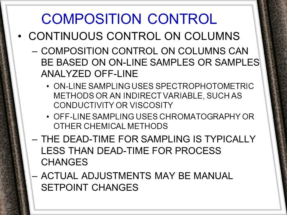 COMPOSITION CONTROL CONTINUOUS CONTROL ON COLUMNS