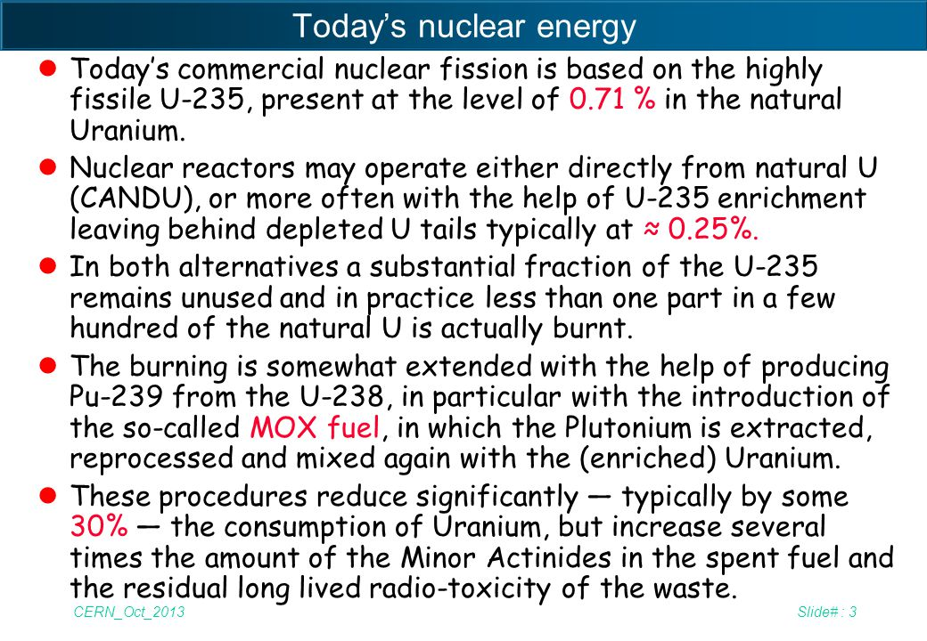 Today's nuclear energy