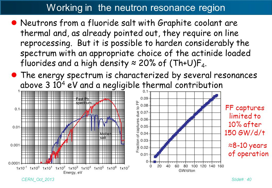 Working in the neutron resonance region