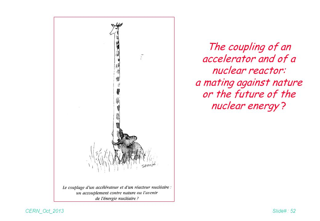 The coupling of an accelerator and of a nuclear reactor: