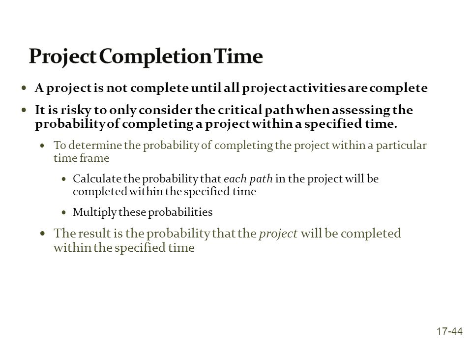 Project Completion Time