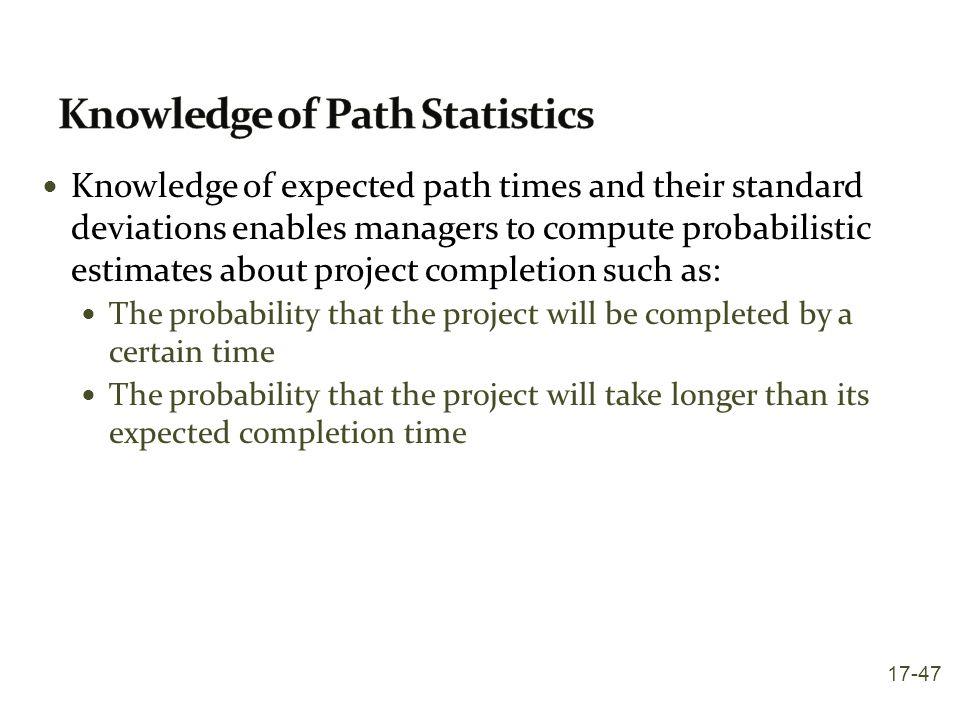 Knowledge of Path Statistics