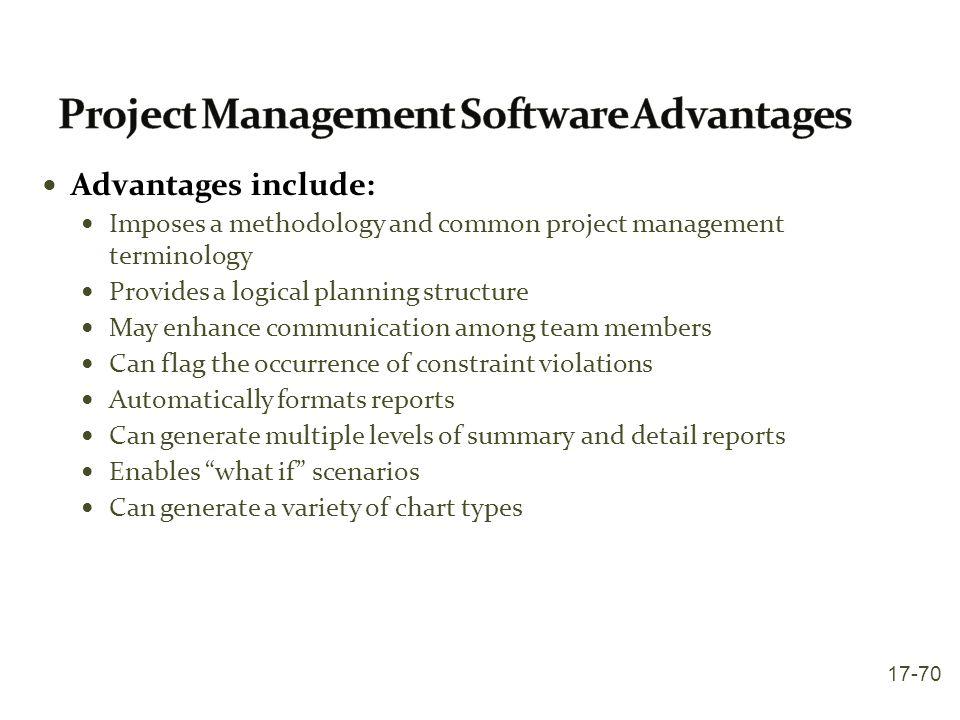 Project Management Software Advantages