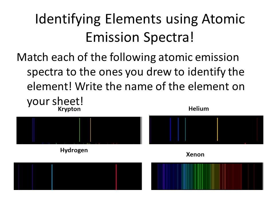 Identifying Elements using Atomic Emission Spectra!