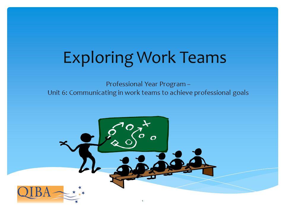 Exploring Work Teams Professional Year Program –