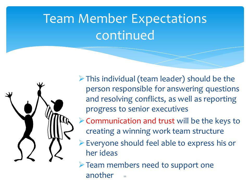 Team Member Expectations continued