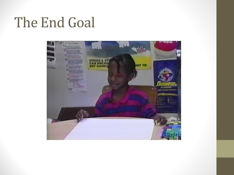 The End Goal videos