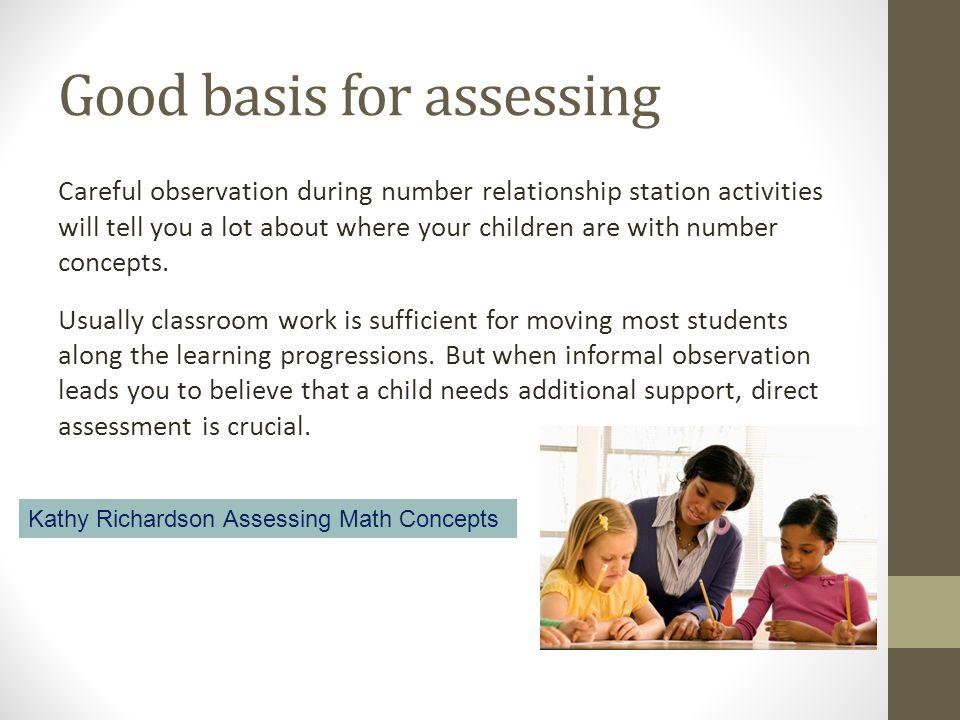 Good basis for assessing