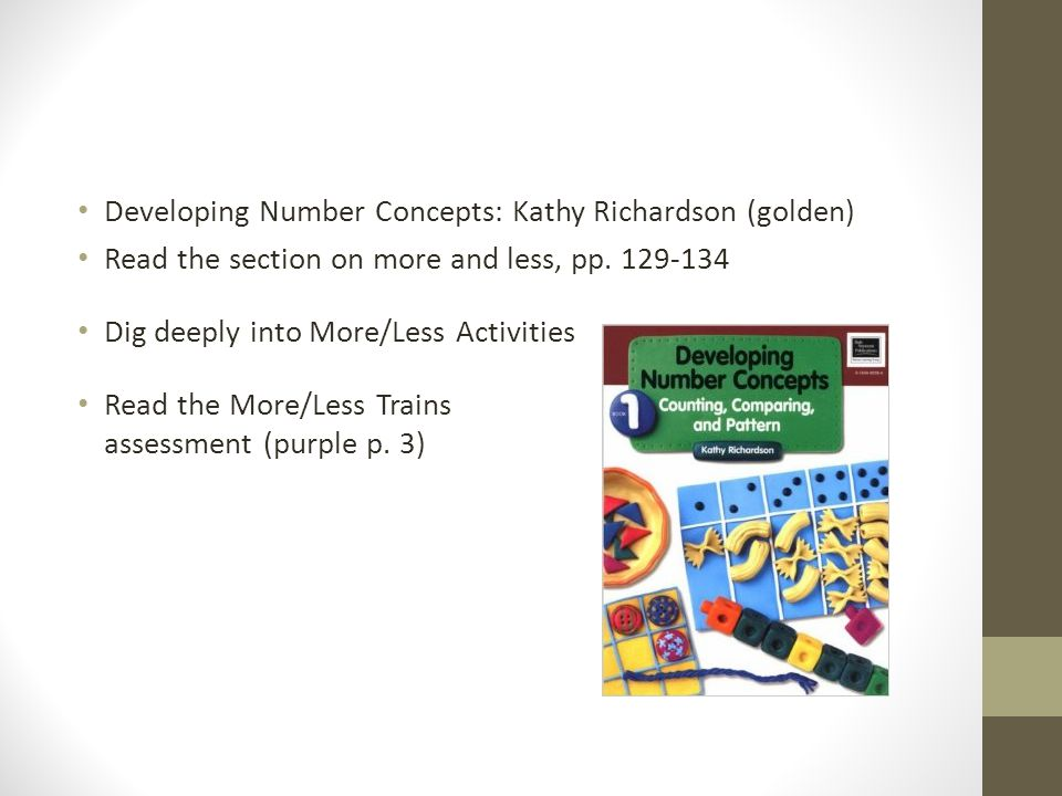 Developing Number Concepts: Kathy Richardson (golden)