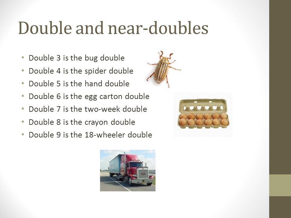 Double and near-doubles