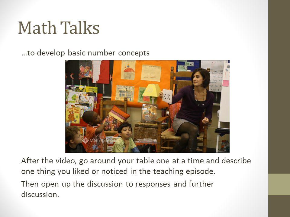 Math Talks
