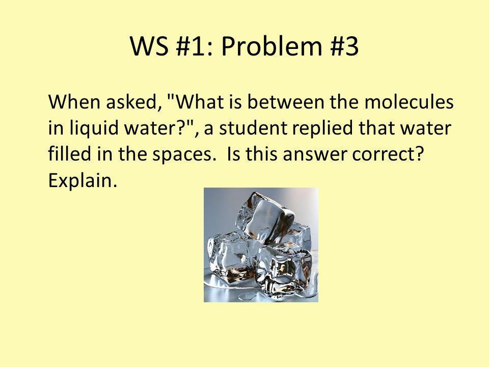 WS #1: Problem #3