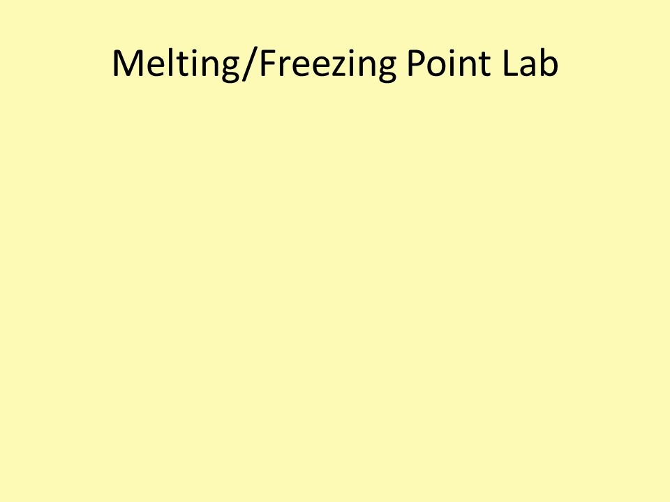 Melting point lab essay