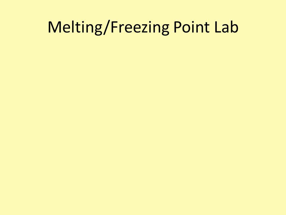 Melting/Freezing Point Lab