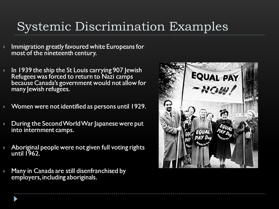Systemic Discrimination Examples