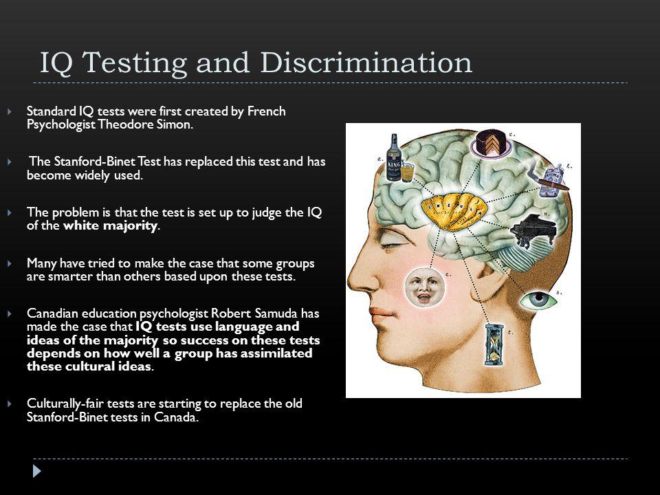 IQ Testing and Discrimination