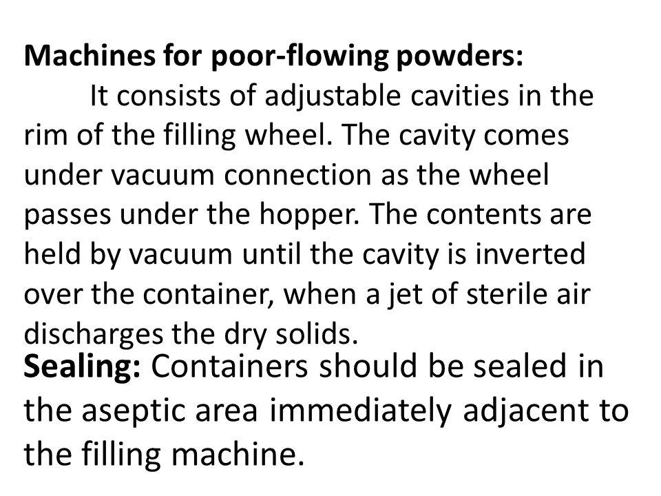 Machines for poor-flowing powders: