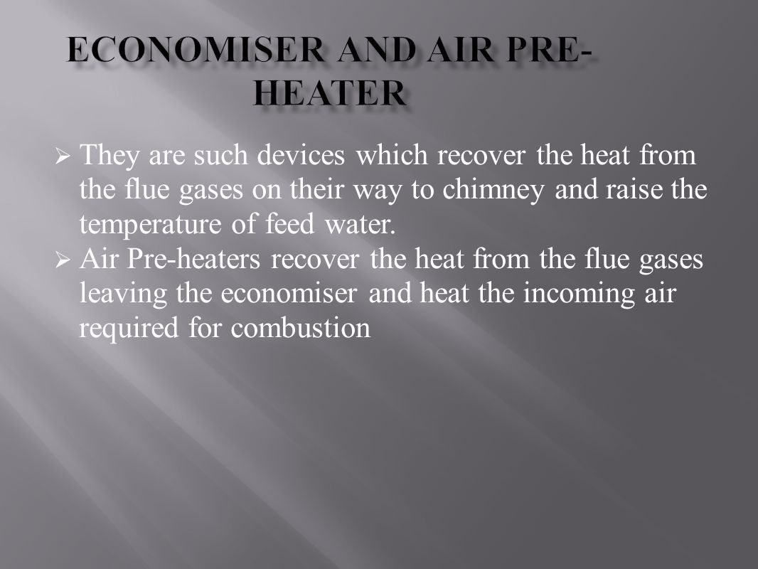 Economiser and Air Pre-heater