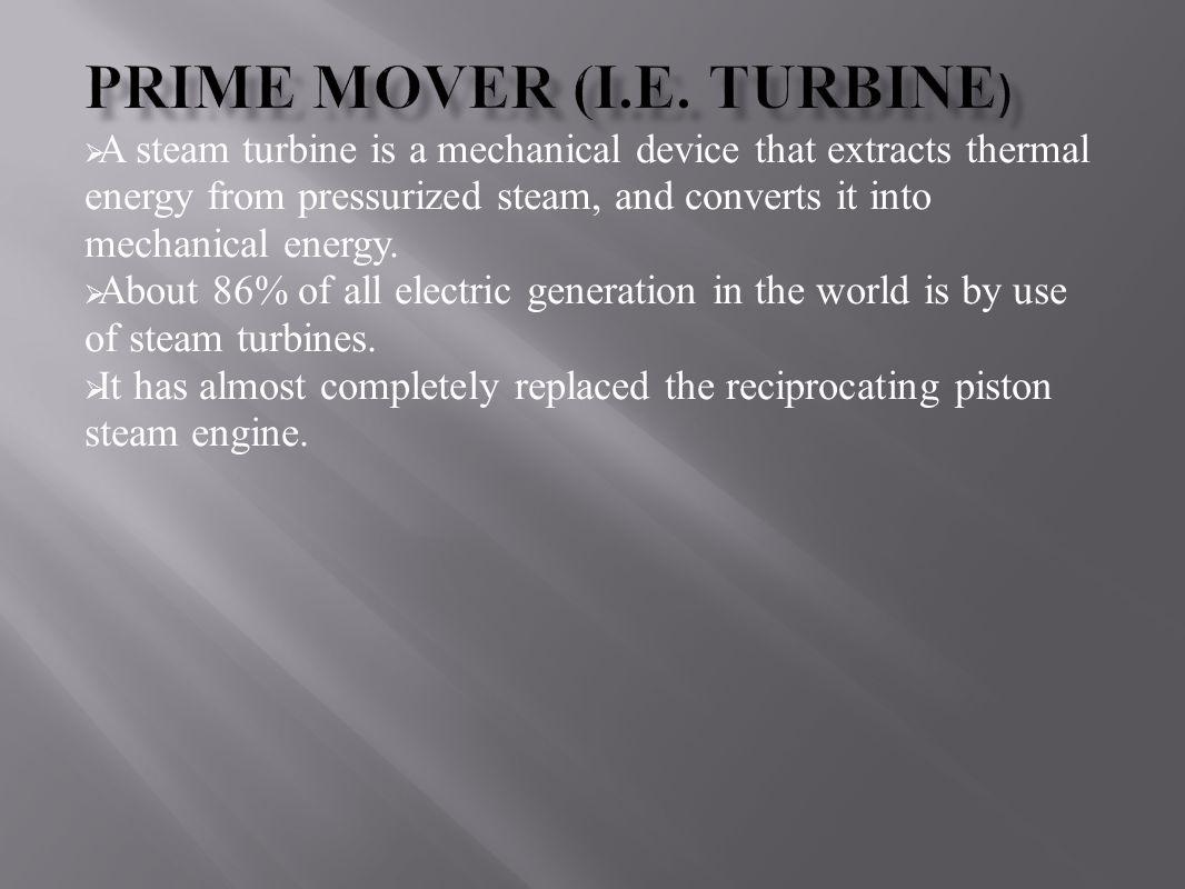 Prime Mover (i.e. Turbine)