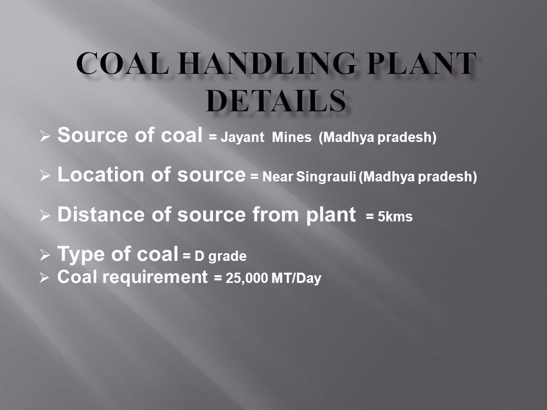 Coal Handling Plant Details