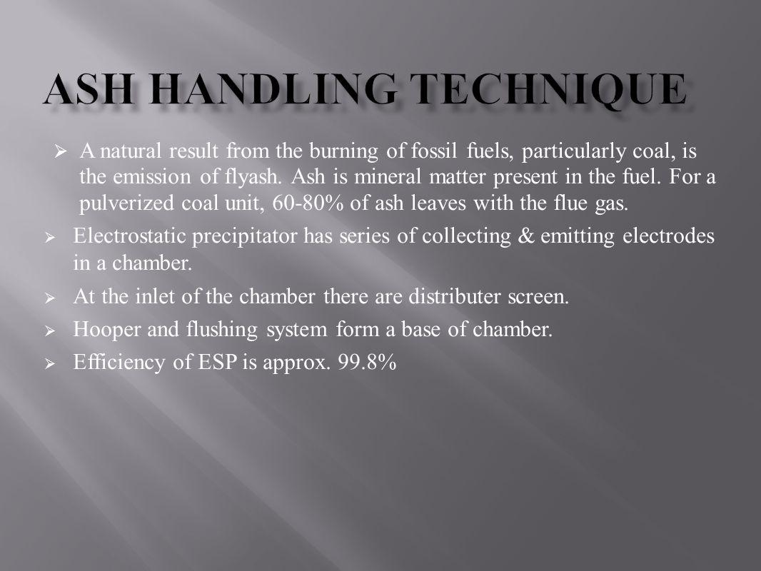 Ash Handling Technique