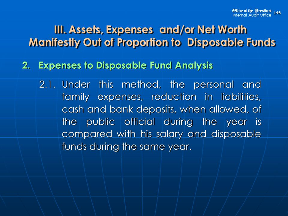 2. Expenses to Disposable Fund Analysis