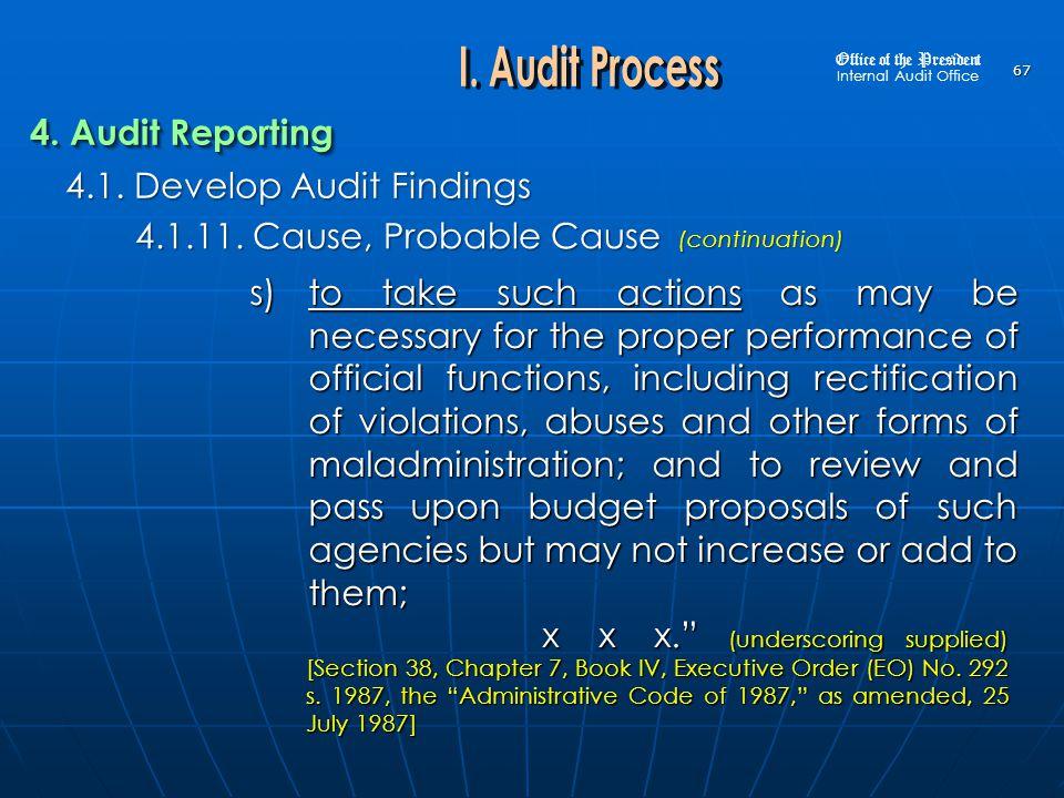 4.1. Develop Audit Findings