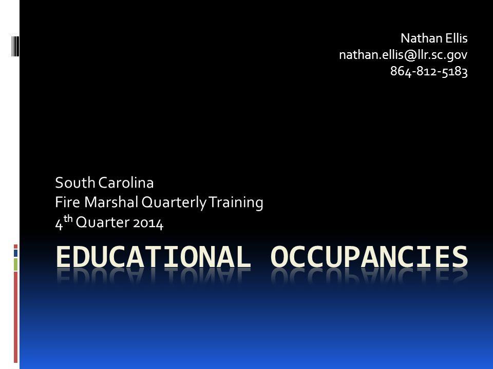 Educational Occupancies